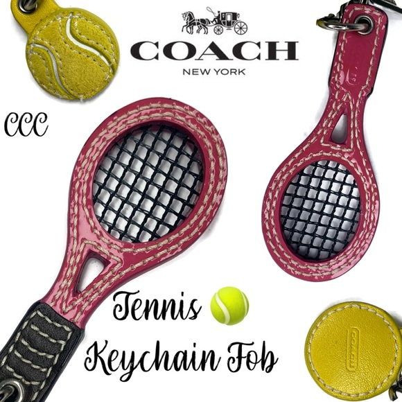 Coach Tennis 🎾 Lover Keychain Fob Ball Bag Decore